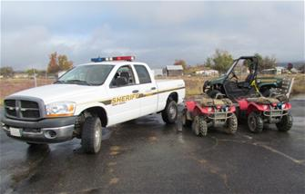 Sheriff's Truck, Golfcart and Four Wheelers