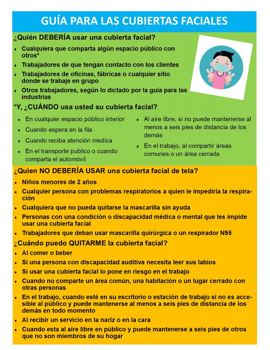 Face Covering Guidance - Flyer Spanish_0